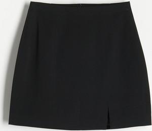 Czarna spódnica Reserved w stylu casual mini