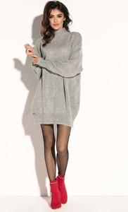 Sukienka Fobya z długim rękawem z moheru w stylu casual