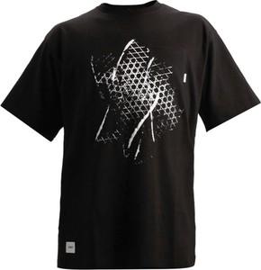 Czarny t-shirt Vans z krótkim rękawem w młodzieżowym stylu