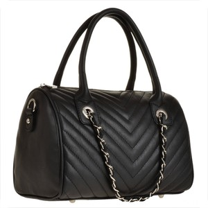 Elegancki skórzana torebka pikowana czarna borse in pelle