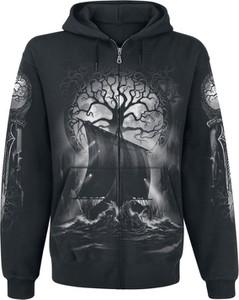 Czarna bluza Emp z bawełny z nadrukiem w młodzieżowym stylu