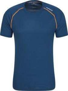 Niebieski t-shirt Mountain Warehouse w sportowym stylu z tkaniny
