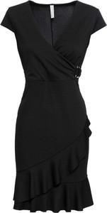 Czarna sukienka bonprix BODYFLIRT boutique z krótkim rękawem mini