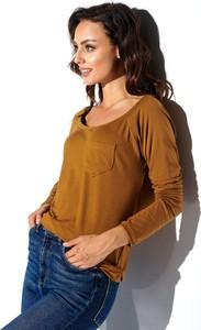 Brązowa bluzka N/A z dresówki