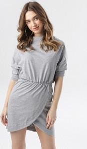 Sukienka born2be w stylu casual mini z okrągłym dekoltem