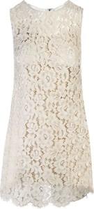Sukienka Dolce & Gabbana mini z okrągłym dekoltem bez rękawów