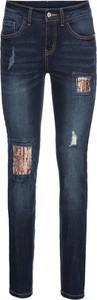 Niebieskie jeansy bonprix BODYFLIRT w stylu glamour