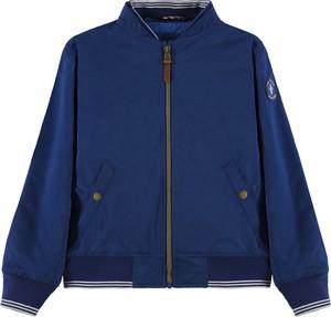 Niebieska kurtka dziecięca Tom Tailor z bawełny