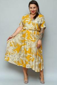 Sukienka KARKO kopertowa z krótkim rękawem