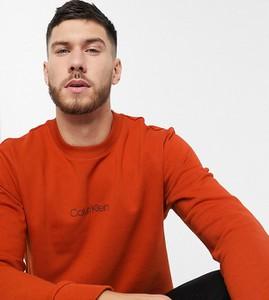 Pomarańczowa bluza Calvin Klein z dresówki
