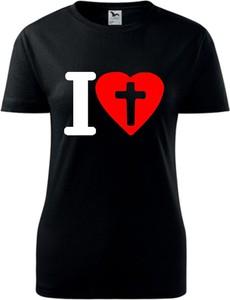 Czarny t-shirt TopKoszulki.pl z bawełny z krótkim rękawem