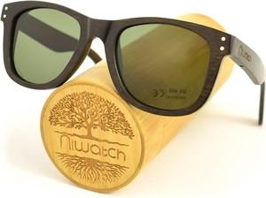 Drewniane okulary przeciwsłoneczne Niwatch Gemini Grey