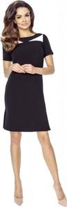 Sukienka Ptakmoda.com z okrągłym dekoltem mini z krótkim rękawem