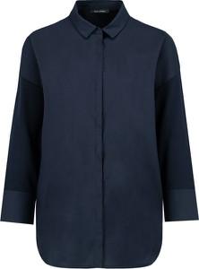 Niebieska koszula Marc O'Polo z dżerseju z długim rękawem