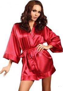 Czerwony szlafrok Beauty Night Fashion