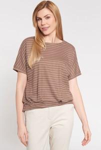 Brązowa bluzka QUIOSQUE w stylu casual