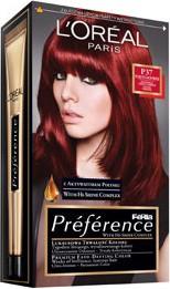 L'Oreal Paris L'Oreal Paris, Feria Preference, farba do włosów, P37 intensywna ciemna czerwień