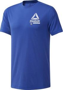 T-shirt Reebok w sportowym stylu z krótkim rękawem