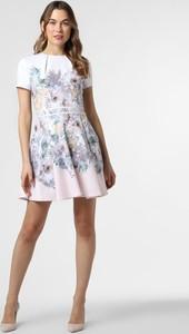 Sukienka Ted Baker z okrągłym dekoltem mini z krótkim rękawem