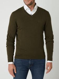 Zielony sweter Hugo Boss w stylu casual