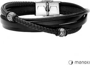 Manoki BA654B czrna bransoletka beads