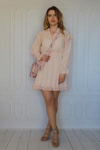 Sukienka arioso.pl z bawełny z długim rękawem