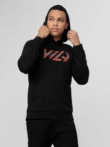 Czarna bluza 4F w młodzieżowym stylu z bawełny