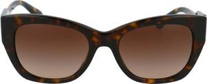 Brązowe okulary damskie Michael Kors