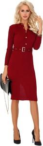 Sukienka MERRIBEL szmizjerka z dekoltem w kształcie litery v