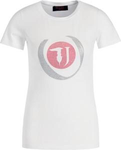 T-shirt Trussardi Jeans z okrągłym dekoltem z krótkim rękawem z nadrukiem