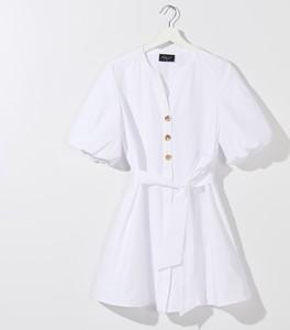 Sukienka Mohito z krótkim rękawem z dekoltem w kształcie litery v w stylu casual