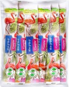 PAKIET ECO LINE zestaw 25 sztuk pilników do paznokci Aba Group PROSTY 150/150 STANDARD FLAMINGI