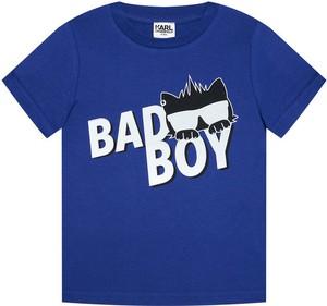 Koszulka dziecięca Karl Lagerfeld z jeansu