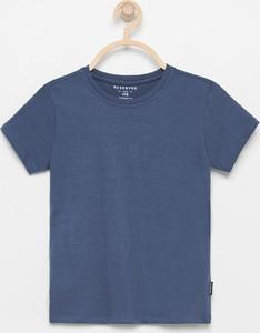 Granatowa koszulka dziecięca Reserved
