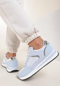 Niebieskie buty sportowe Renee z płaską podeszwą sznurowane