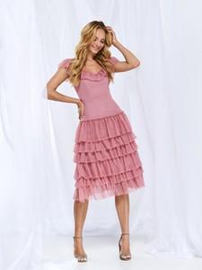 Sukienka Top Secret midi z krótkim rękawem