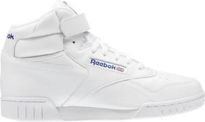 Buty sportowe Reebok sznurowane w młodzieżowym stylu ze skóry
