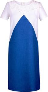 Sukienka Fokus mini z okrągłym dekoltem z krótkim rękawem