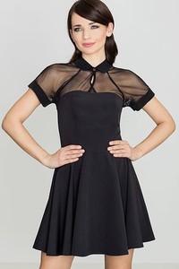 Sukienka LENITIF w młodzieżowym stylu midi rozkloszowana