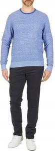 Niebieski sweter Tommy Hilfiger z okrągłym dekoltem w stylu casual