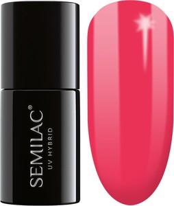 Semilac, lakier hybrydowy 042 neon raspberry