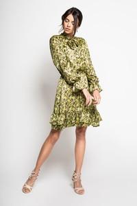 1a498ccc83 Sukienki • MIA - czerwona jedwabna hiszpanka. Zielona sukienka MYOKO z  żabotem z jedwabiu