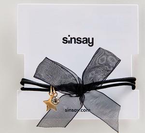 Sinsay - Bransoletka z kokardą - Czarny