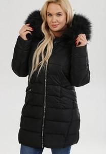 Czarna kurtka born2be w stylu casual długa