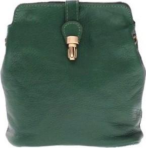 Zielona torebka GENUINE LEATHER na ramię w stylu casual mała