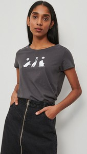 T-shirt Reserved w stylu casual z krótkim rękawem z bawełny