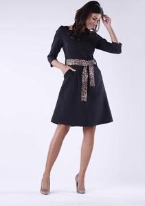 Granatowa sukienka Nommo