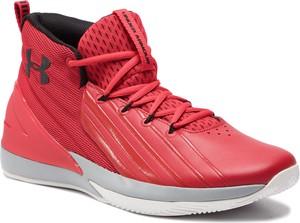 Czerwone buty sportowe Under Armour sznurowane w sportowym stylu