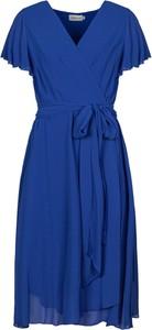 Sukienka Grandio z krótkim rękawem z szyfonu