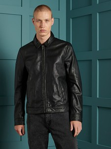 Czarna kurtka Superdry w stylu casual